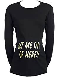 SR - Get Me Out Of Here! Organic Women's Maternity T-Shirt - Maternity Clothing