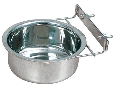 Zolux Bol à Fixer en Inox pour Chien Diamètre 18 cm 1,34 L