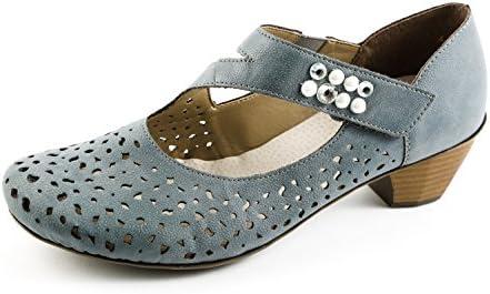Rieker Samples RK1-181 - Zapatos de Vestir de Sintético para Mujer Azul Azul