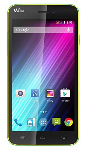 Wiko Lenny Dual-SIM Smartphone (5 Zoll (12,7 cm) Touch-Display, 4 GB Speicher, Android 4.4) gelb
