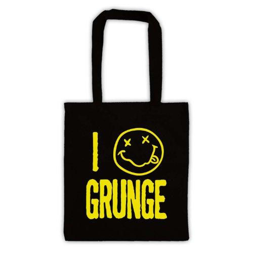 "Scritta in inglese ""I Love-Borsa stile Grunge Nero"