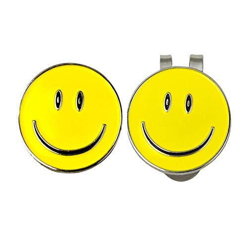 Golfhut-Clip – Golfball-Marker, magnetische Hut-Clips, Verschiedene Muster, Abnehmbarer Marker, 2 Stück, Jungen Mädchen Damen, Smile