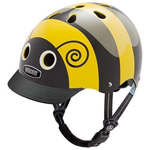 Nutcase Little Nutty Street Helm Fahrrad Kinder Visier Motiv Atmungsaktiv Rad Bike XS 48-52 cm, LNG3-1, Design Bumblebee