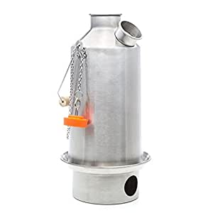 Base Camp' Kelly Kettle® 1.6ltr (Aluminium) NOW WITH STAINLESS STEEL FIRE-BASE AS STANDARD - Camping Kettle and Camp Stove in one. Ultra fast lightweight wood fueled camp stove for solo or group use. NO Batteries, NO Gas, Fuel is FREE! For Fishing, Hunting, Scouts, Family Picnics. Weight 1.8lb / 0.8kg
