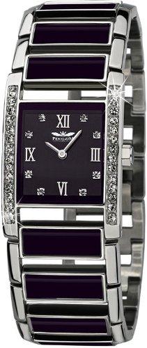 Perigaum 1972 Nyah Reloj elegante para mujeres Con cristales