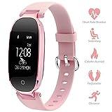 Pulsera Inteligente para mujeres Monitores de ritmo cardíaco Seguidores de la actividad de p...