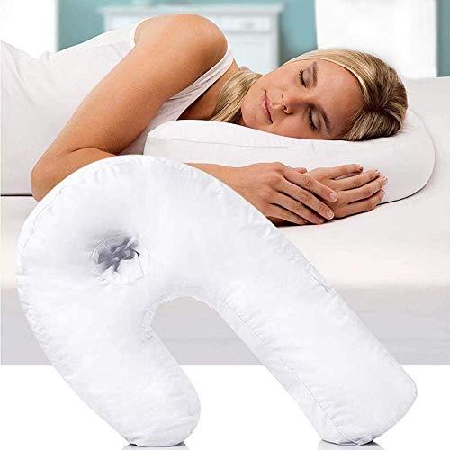CYICis Kissen Spezialkissen U-förmiges Schwangerschafts Stützkissen Back & Neck Nursing Nicht allergisches (Weiß) (Therapeutische Neck)