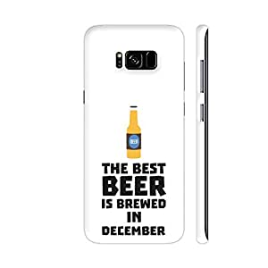 Colorpur Samsung S8+ Cover - Best Beer Is Brewed In December Printed Back Case
