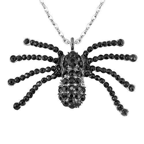 (Widmann 7145G Halskette Spinne, Unisex– Erwachsene, Schwarz, One Size)