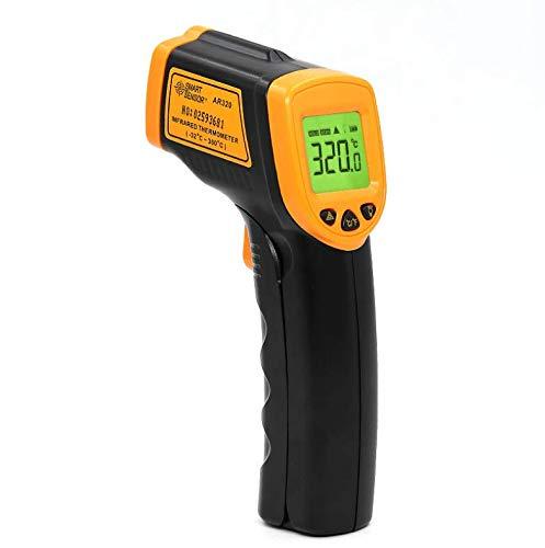 Termómetro infrarrojo de alta temperatura, 1600 grados 1850 grados, pistola de temperatura...