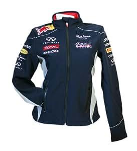 red bull racing veste softshell de l 39 curie formule 1 red bull pour femme avec sponsors bleu. Black Bedroom Furniture Sets. Home Design Ideas