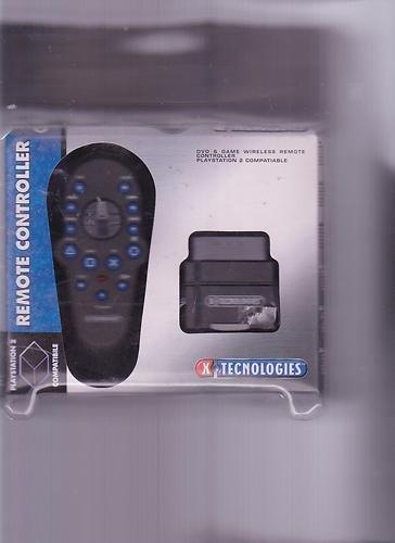 PS2 REMOTE CONTROLLER WIRELESS DVD E GIOCHI X TECHNOLOGIES - Ps2 Dvd Remote