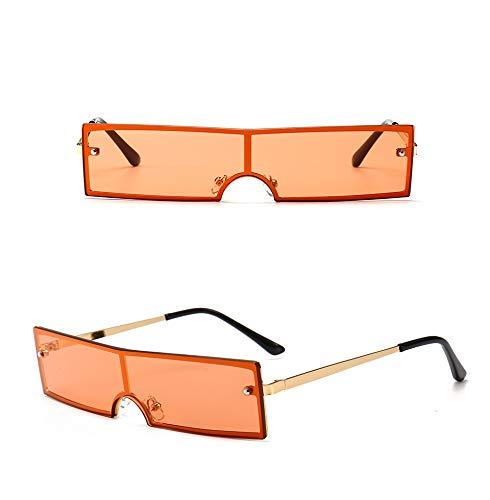 DFIHDCN Sonnenbrillen Neue Frauen-Quadrat-Sonnenbrille-Weinlese-getönte Farbspiegel-Rechteck-Mode-weibliche Sonnenbrille