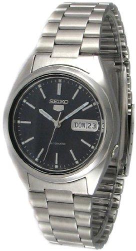 Seiko SNXE91 Men's Seiko 5 Automatic Stainless Steel Black Dial Watch