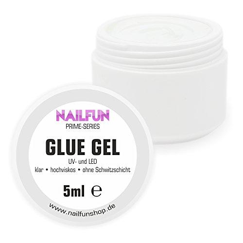 GLUE Gel 5ml - zum befestigen von Nagelschmuck auf der Nagelmodellage [1 x 5ml]