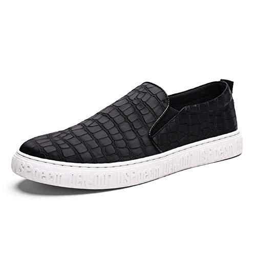 Scarpe da Ginnastica Sneakers for Men Elegante Slip On Casual Loafer Scarpe da Skate Classiche Scarpe Basse da Viaggio Basse Scarpe Sportive (Color : Nero, Dimensione : 38 EU)
