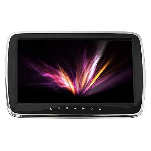 Reproductor De Video HD con Reposacabezas para Coche, Monitor Pantalla LED Universal USB SD De 9 Pulgadas Teclas TáCtiles, Compatible con Varios Idiomas,Black