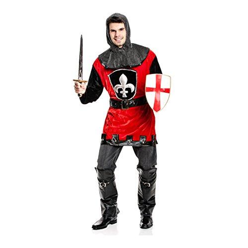 Kostümplanet® Ritter-Kostüm Herren Deluxe + Stiefelstulpen Mittelalter-Kostüm Größe 52/54