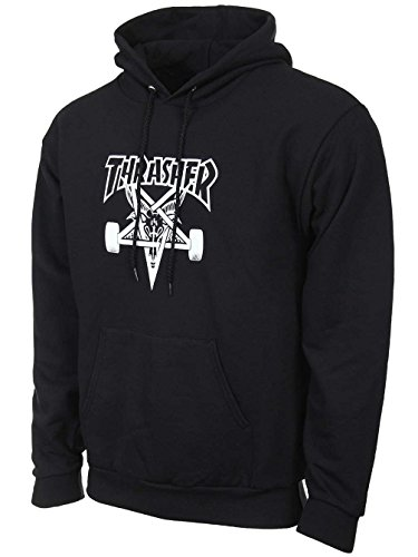 SWEAT À CAPUCHE THRASHER MAGAZINE SKATEGOAT - S, black