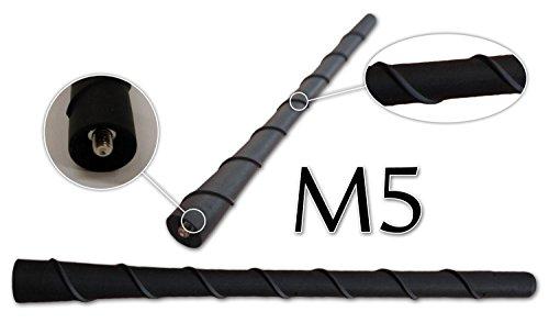 Preisvergleich Produktbild myshopx Autoantenne Kurzstab Antenne Dachantenne 20 cm / M5 Gewinde M5 Telefon TV Radio 16V (1)