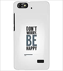 PrintDhaba Quote D-2321 Back Case Cover for HUAWEI HONOR 4C (Multi-Coloured)