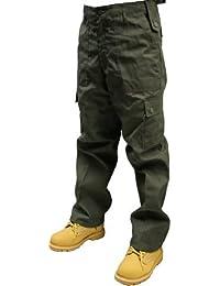 "Adultes Army Olive Cargo kaki Pantalon Tailles W26""-50, L30& 81. 3cm"