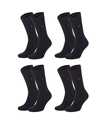 TOMMY HILFIGER Herren Classic Casual Business Socken 4er Pack verschiedene Farben (schwarz (200), 39-42)