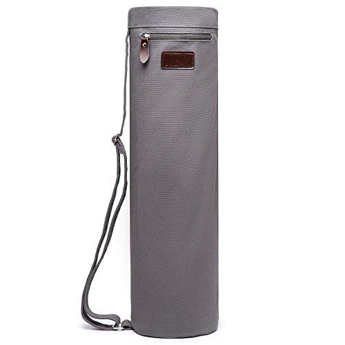 30bf6ef493 Boence Sac de yoga, sac de yoga à pleine fermeture avec la toile solide,  fermetures à glissière lisses, courroie réglable, grandes poches de  stockage ...