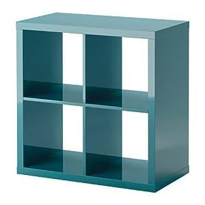 ikea kallax regal in hochglanz t rkis 77x77cm. Black Bedroom Furniture Sets. Home Design Ideas