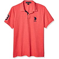 U.S. Polo Assn. Men's Short-Sleeve Polo Shirt with Applique, Nantucket red Heather, M