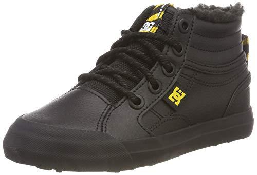 DC Shoes Jungen Evan HI Winter Skateboardschuhe, Schwarz (Black/Yellow-Combo Xkky), 37 EU