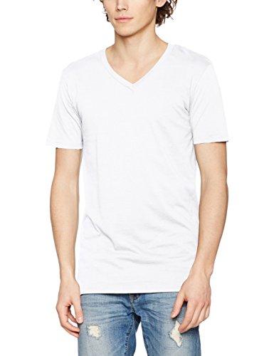 Urban Classics Herren T-Shirt Basic V-Neck Tee Weiß (white 220)