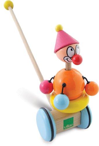 Vilac - 1994 - Jouets à tirer en Bois - Titoon le Clown à pousser