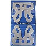 """accusize–8Pcs/set 9/16""""a 1–Juego de galgas de espesores (Calibres con soporte, # EG02–5022"""