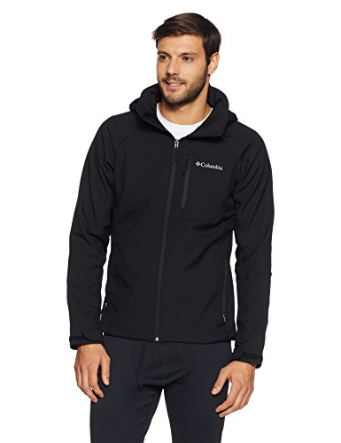 Columbia Men's WM3241 Windproof Softshell Jacket, Cascade Ridge II Softshell, Polyester, Black, Size S