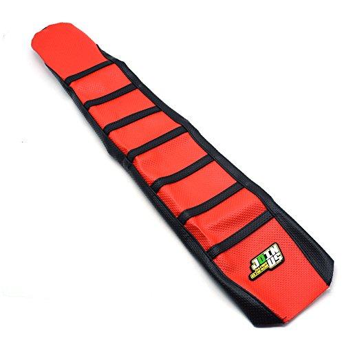 JFGRACING Rouge / Noir En Caoutchouc Gripper Souple Couverture De Siège De Moto Pour Honda CR125R CR250R 00-08 CRF450R 02-04