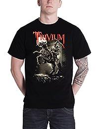 Trivium T Shirt Moon Warrior Band Logo Official Mens Black