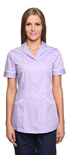 Nightingale assistenza sanitaria dottori, infermieri agire tunica uniforme da massaggio Lilac/White