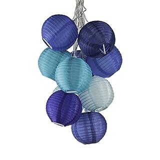 Allsop Home & Garden Soji Solar String Lights 10/Pkg-Watery Blues