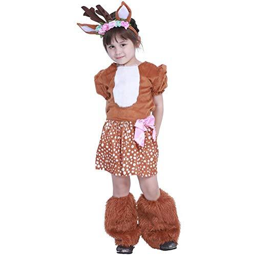 SHANGLY Halloween Kostüm Kitz Cosplay Mädchen Leichtgewicht Familie Weihnachtsfeiertage Karneval Bühnenkleidung,S
