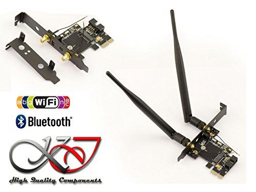 Kalea Informatique Controller PCIe für Karte m.2(M2NGFF A Key) WiFi und/oder Bluetooth-Dual USB-Schnittstelle und PCIe-Kompatibel Serien Intel 7260und 7265 3g Wifi Bluetooth