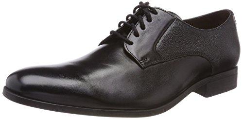 Clarks Herren Gilmore Lace Derbys, Schwarz (Black Leather), 45 EU
