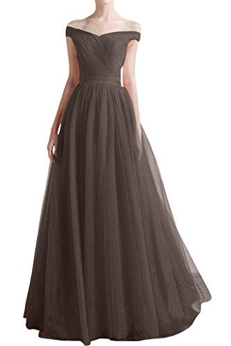 ivyd ressing Femme à partir de la épaules A ligne V de la découpe Prom robe robe de bal robe du soir Chocolat