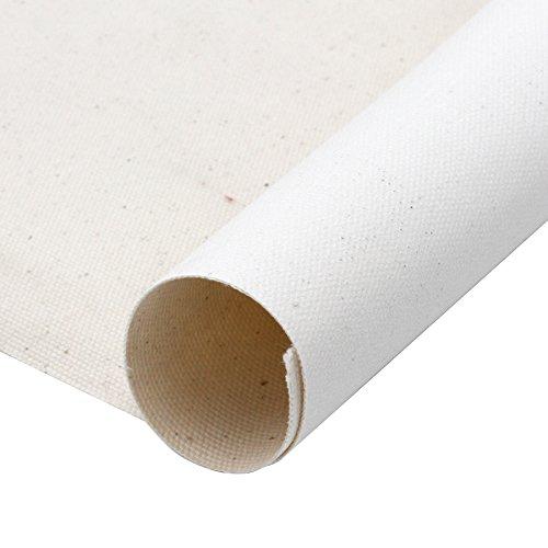 Meister Robuste 480 gr/m² LEINWAND auf Rolle 10m x 160cm, malfertig vorgrundiert, 100% Baumwolle