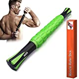 Angker, rullo muscolare per atleti - bastoni per massaggio 45,72 cm - rullo massaggiatore per alleviare i dolori muscolari, crampi e tensione, favorisce il recupero di gambe e spalla, Green