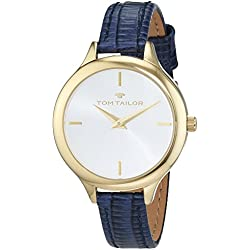 TOM TAILOR Watches Damen-Armbanduhr Analog Quarz Leder 5414804