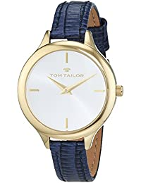 TOM TAILOR Watches Damen-Armbanduhr Analog Quarz Leder 5414804
