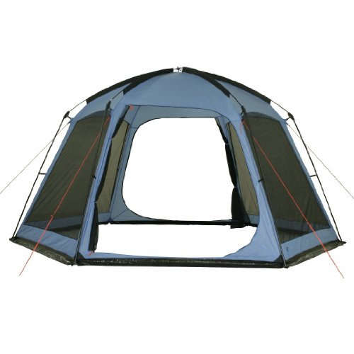 10t kivalina pavillon 6 eckig mit insektenschutz 440x370x220cm 2 eing nge blau ws 5000mm. Black Bedroom Furniture Sets. Home Design Ideas