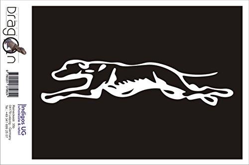 T-Shirt Herren - Greyhound Running Dog - Dog Weiß