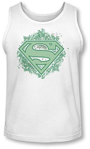 Superman - - Männer Verziert Schild Tank-Top White